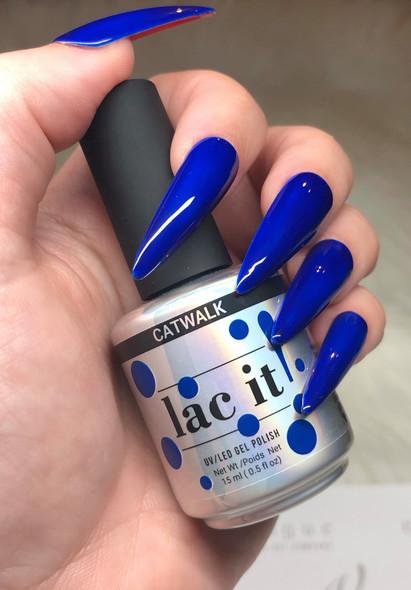 Lac It!™ Advanced Formula Gel Polish 15ml - Catwalk (Runway Collection). Dark Blue Gel Polish.