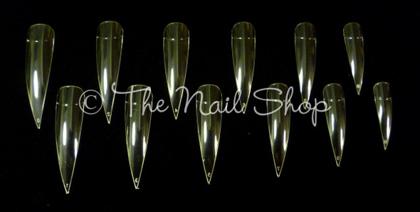 Extra Long Clear Pointed Claw Tips (5cm) - New Pack of 24PCS