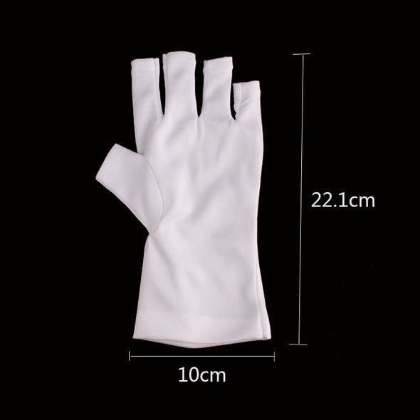 White UV Lamp Protection Gloves (1 Pair) - Protecting Your Hand Skin
