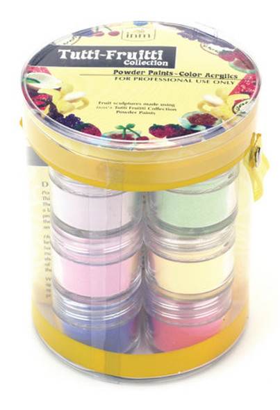 INM Tutti Fruitti Coloured Acrylic Nail Powder Paints Collection (12 Pots)