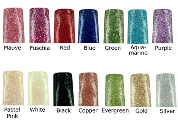 INM Northern Lights Holographic Coloured Acrylic Powder Collection (12 Pots)