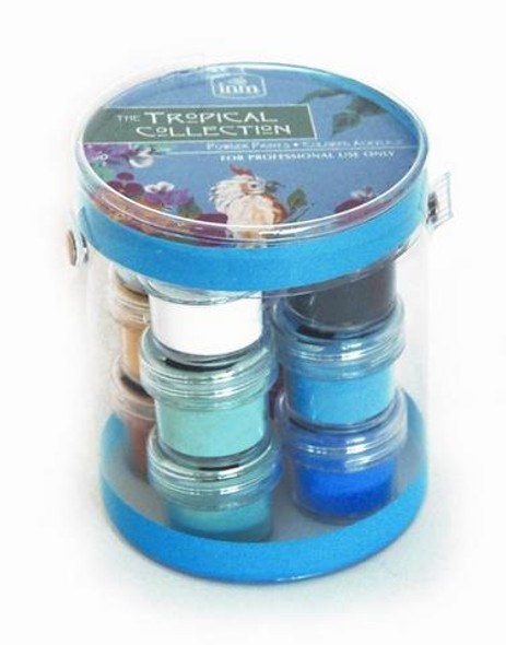 INM Tropical Acrylic Powder Paints Collection (12 Pots)