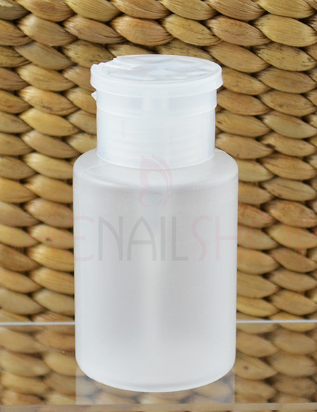 Frosted Clear Nail Polish Remover/Acetone Dispenser Pump