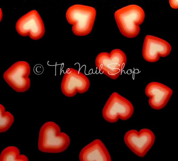 Love Heart Nail Art Fimo Slices - Great for Valentines Day!