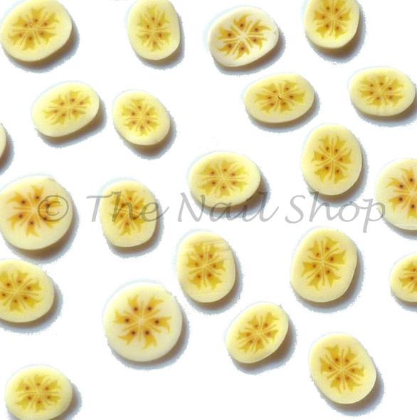 Sliced Banana Clay Fimo Nail Art (30Pcs)