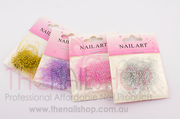 Corrugated Nail Art Thread Cotton String (4 Colours Available)