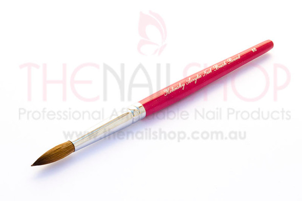 Professional Kolinsky Sable Acrylic Nail Brush Round #8 - Pink Handle