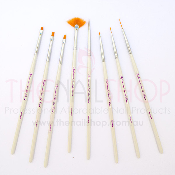 Professional Nylon Nail Art Brush Set (8PCS) - Superior Quality!