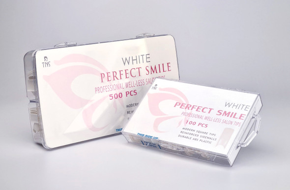 TNS Perfect Smile White Well-less Nail Tips (Box of 100PCS or 500PCS)