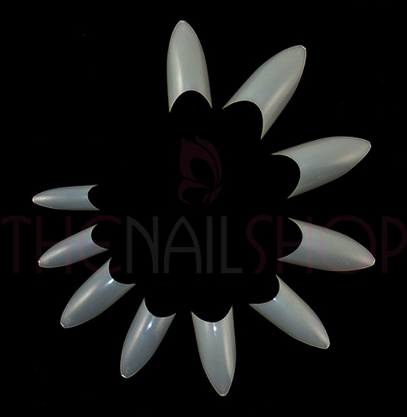 European Cusp Oval French Well-less Nail Tips - Natural (Box of 500)