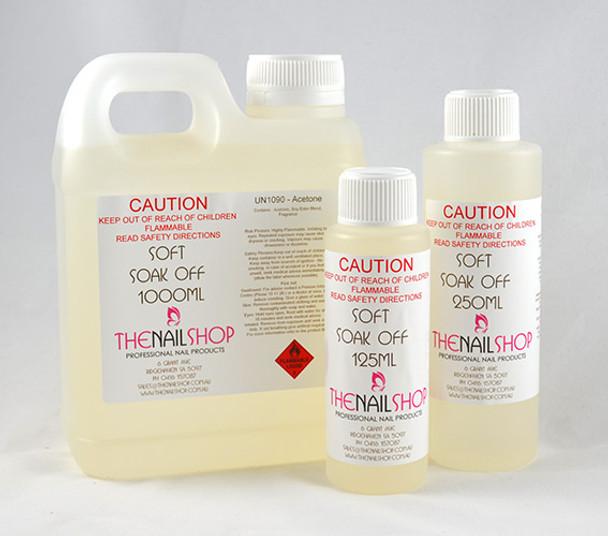 NS Soft Soak-Off Acrylic & Gel Polish Nail Remover (125ml, 250ml, 500ml, 1 Litre) - New Moisturising Formula!