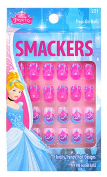 Kids Manicures - Licensed Disney Pre-Glued Nail Tips By Lip Smacker (24PCS Per Box)