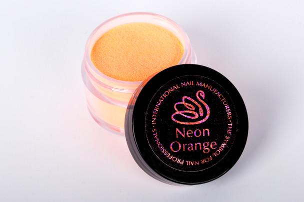 INM Northern Lights Holographic Neon Orange Glitter Acrylic Nail Powder 15gm