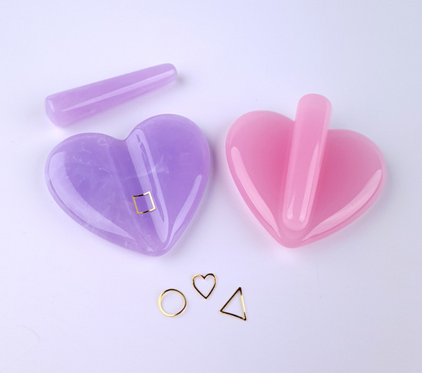 Heart Mould for Curving Fine Metal Shapes Nail Art (Pink or Purple)
