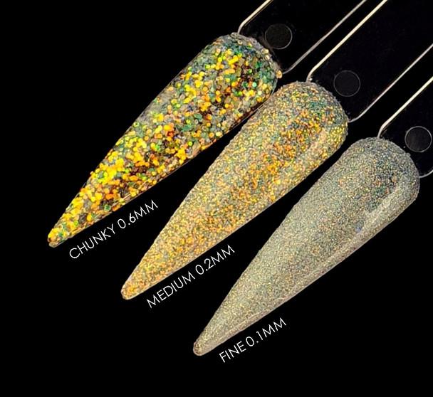 TNS MARYLIN'S MILLIONS Iridescent White Glitter for Nail Art (15gm Bag) - Fine, Medium, or Chunky