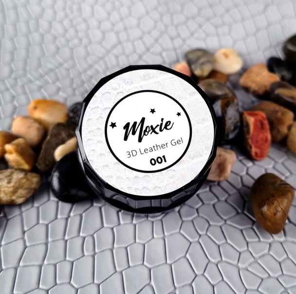 Moxie 3D Coloured Leather Nail Gel 5ml - WHITE
