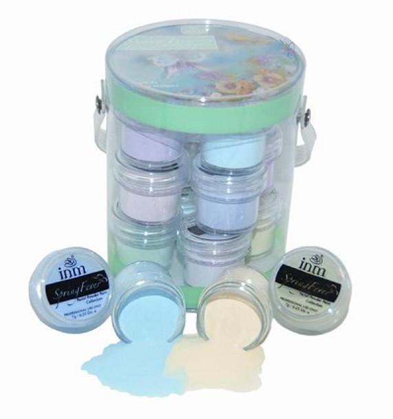 INM Spring Fever Coloured Acrylic Powder Collection (12 Pots)