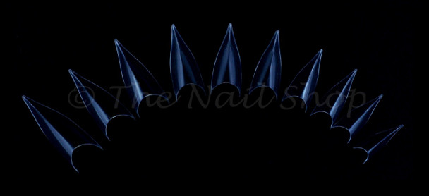 Clear Leaf Nail Tips (Stiletto/Edge Combo) - Box 120 Pcs