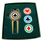 PRO DIVOT TOOL SET WITH ASSORTED BALLMARKERS -  Poker Chips Modern