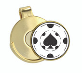 Hat Clip Poker Chip Spade - Classic