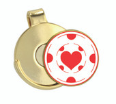 Hat Clip Poker Chip Heart - Classic