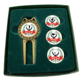 Divot Tool Set with Assorted Ballmarkers - His
