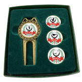 Divot Tool Set with Assorted Ballmarkers - Hers