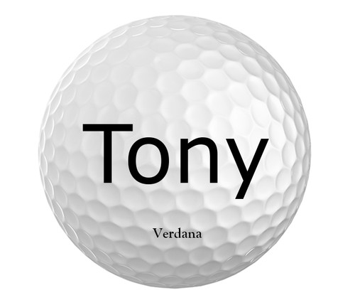 Personalized Golf Balls - Choice of Font