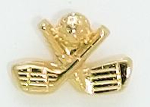 Crossed Clubs  Lapel Pin