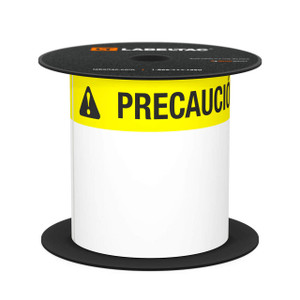 "LabelTac® 4 and Pro Model Precaución (Caution) Die-Cut Label Roll - 4""x6"""