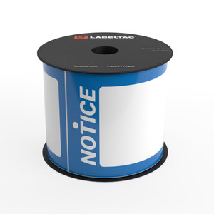 LabelTac®  Notice Tag - Safety Blue - Printable Tag Roll