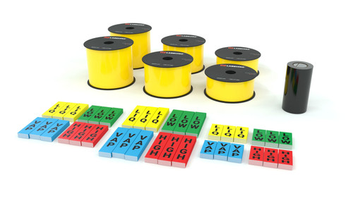 LabelTac® 4 Pro and Pro Model - Yellow Ammonia Pipe Marking Supply Bundle