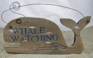 whale watching sign