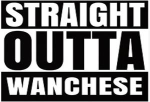 """Straight Outta Wanchese 3"""" X 5"""" Sticker"""