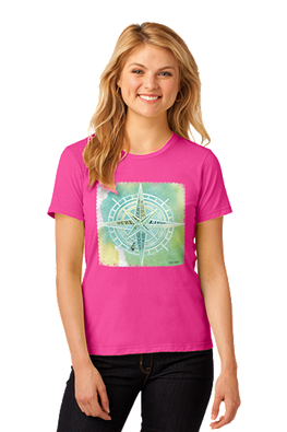 Outer Banks Compass of Life Missy Fit Tee