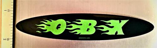 Mini Green flame obx sticker