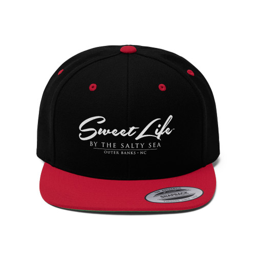 Sweet Life by the Salty Sea Outer Banks Unisex Flat Bill Hat