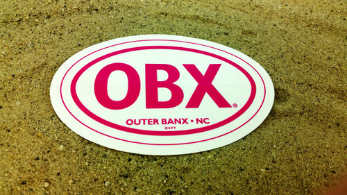 OBX Pink Oval Sticker CLEAR-Genuine OBX Gear