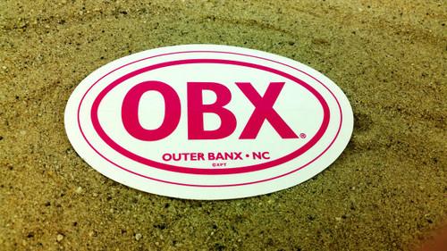 OBX Pink Oval Sticker CLEAR-Genuine OBX Gear