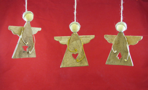 Wooden Angels Cutout Cottage Rustic Outer Banks Beach Ornaments
