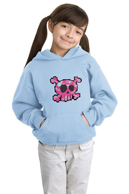 Outer Banks Pink Camo Pirate Youth Hoodie