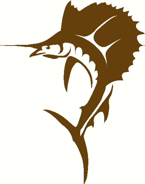 Outer Banks Sailfish Decal Sticker Fishing Deep Sea