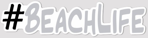 "8"" x 2"" #BEACHLIFE Decal"