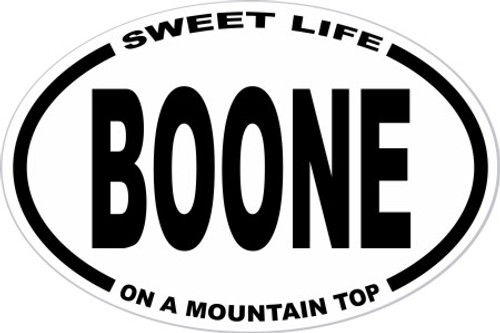 Boone Sweet Life On A Mountain Top Decal