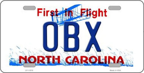 OBX North Carolina Novelty License Plate