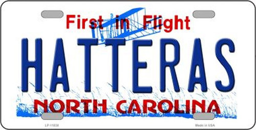 Hatteras North Carolina License Plate