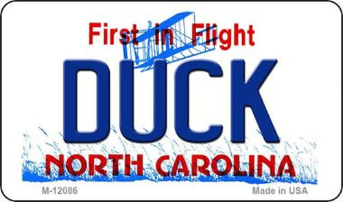 Duck North Carolina Novelty Metal Magnet