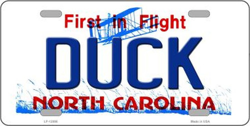 Duck North Carolina Novelty Metal License Plate