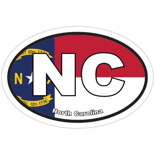 Nc Oval Flag Sticker