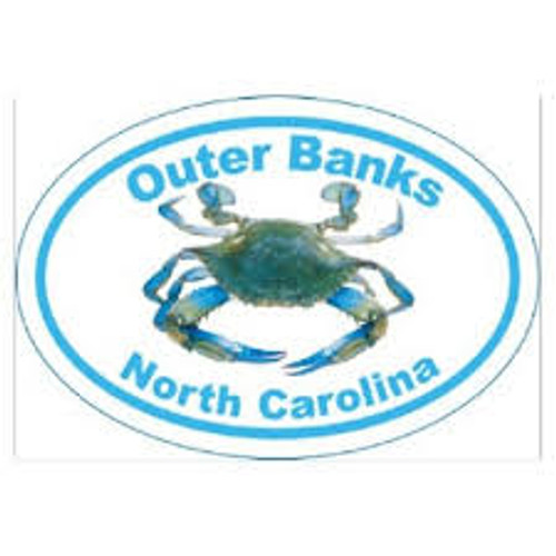 Obx Crab Oval Sticker - Large
